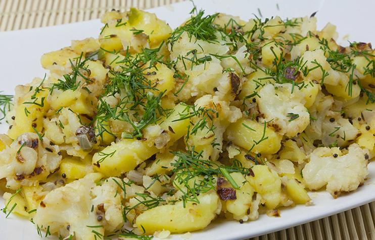 Цветная капуста с картофелем…