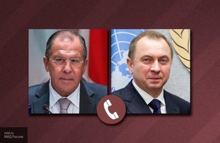 Главы МИД РФ и Белоруссии об…