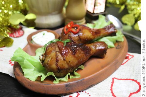 Куриные ножки, маринованные с чаем блюда из курицы,кулинария,мясные блюда