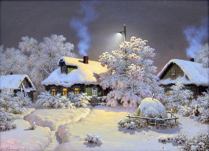 Художник Виктор Тормосов. Где стеною снега и в ромашках луга