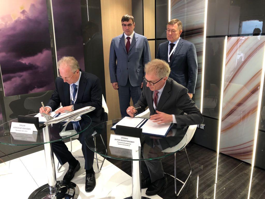 Подписано первое Соглашение о намерениях по приобретению перспективных самолетов SSJ 75