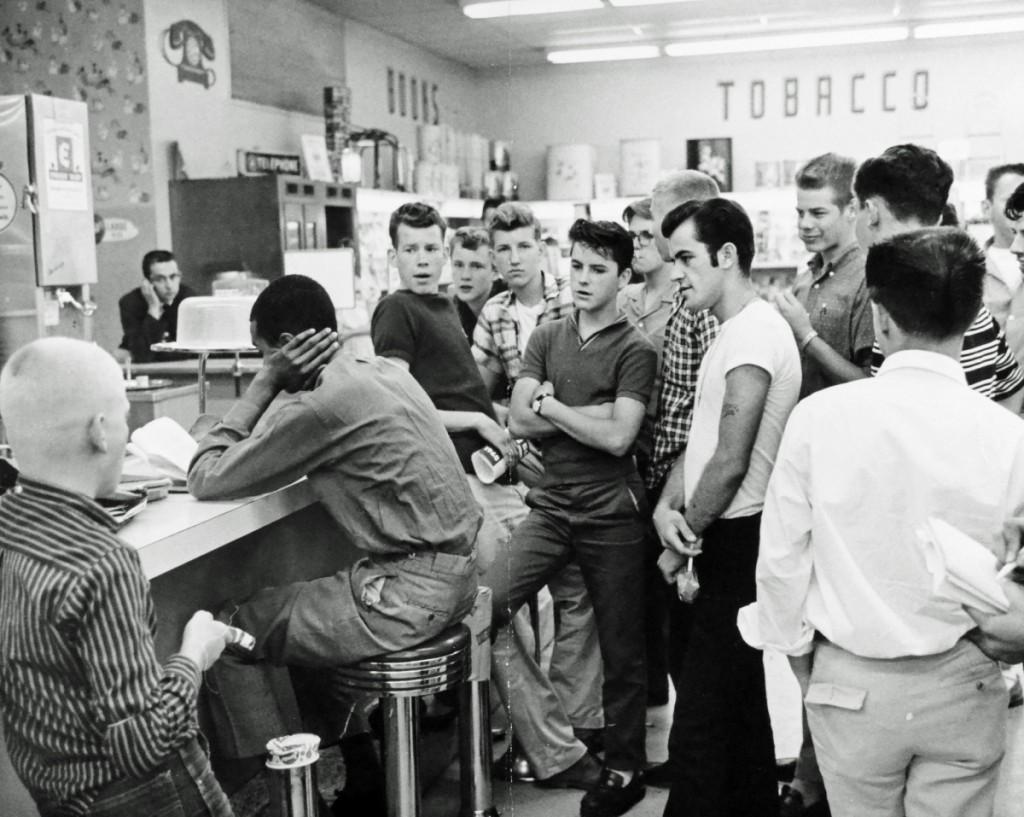 Нападение расистов. Арлингтон, США. 1960 г.