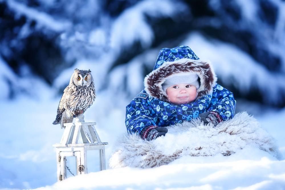 Новом, прикольные картинки с детьми зимой