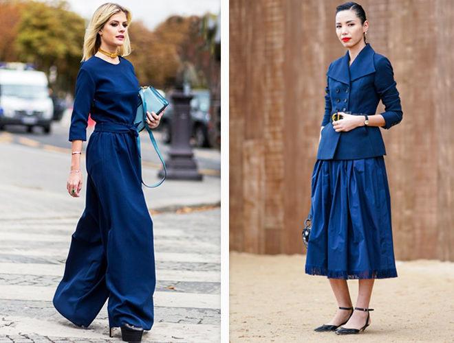 Сапфировый оттенок синего в одежде фото