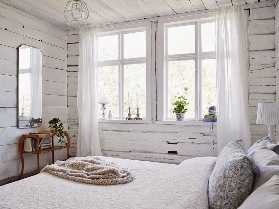 Белый цвет в дачном интерьере