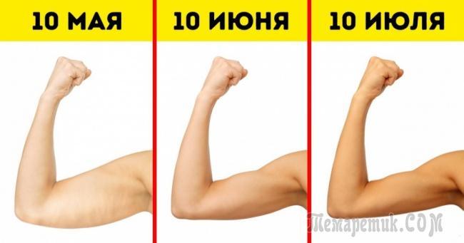 Выполняйте эти 6 упражнений, и ваши руки станут красивыми