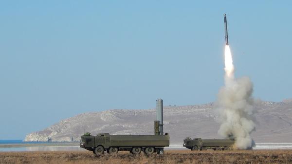 """Пуск ракеты из БРК """"Бастион"""""""