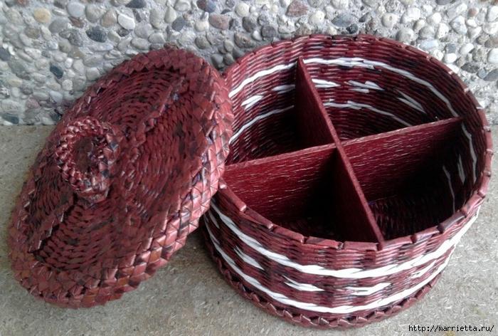 Плетение из газет. Мастер-класс и примеры применения фигурной косички (15) (700x472, 308Kb)