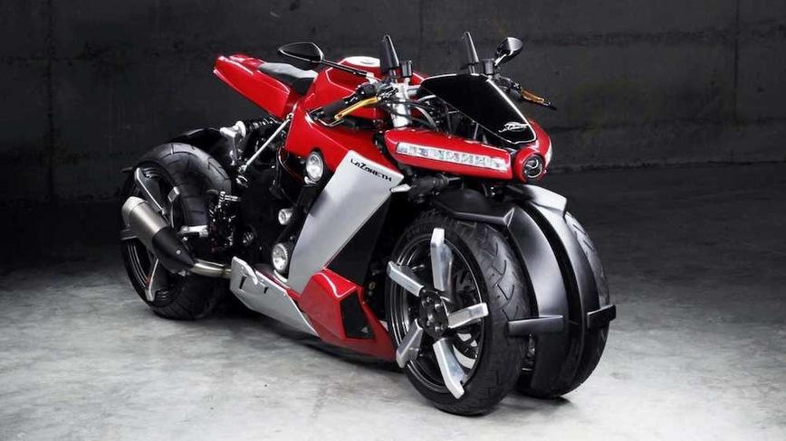 4-колесный мотоцикл Lazareth LM 410 может стоять без подножки, но стоит 7 млн рублей Марки и модели,мотоциклы