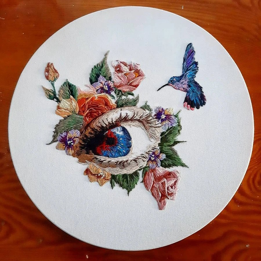 Красочные картины, созданные иглой и нитью: рукодельный instagram недели