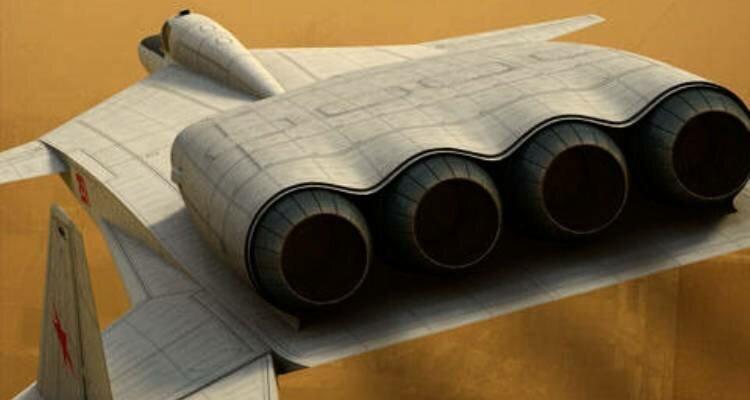 Двигатели штурмовика специального назначения М-25 «Адский косильщик» КБ Мясищева, М-25, проект, ударная волна, штурмовик