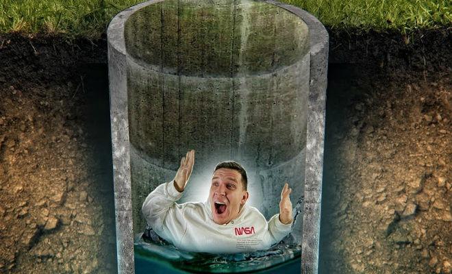 Как выбраться из глубокого колодца без инструментов