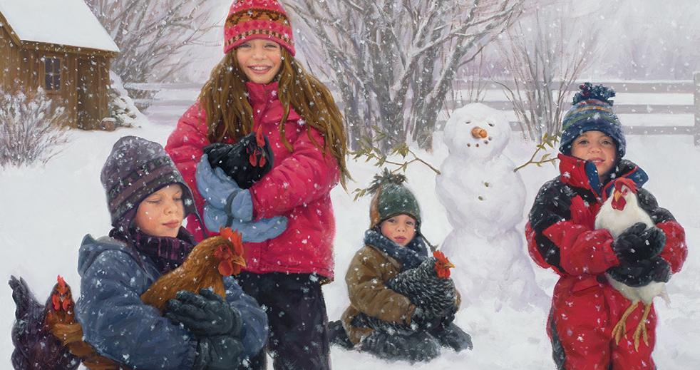 зима пришла в картинках с детьми них
