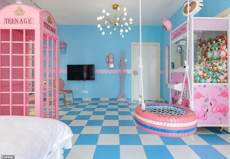8. Апартаменты в стиле комнаты девочки-подростка в Китае - 50 долларов за ночь Airbnb, аренда жилья, жилье, подборка, путешествия, разные страны, туризм, фото