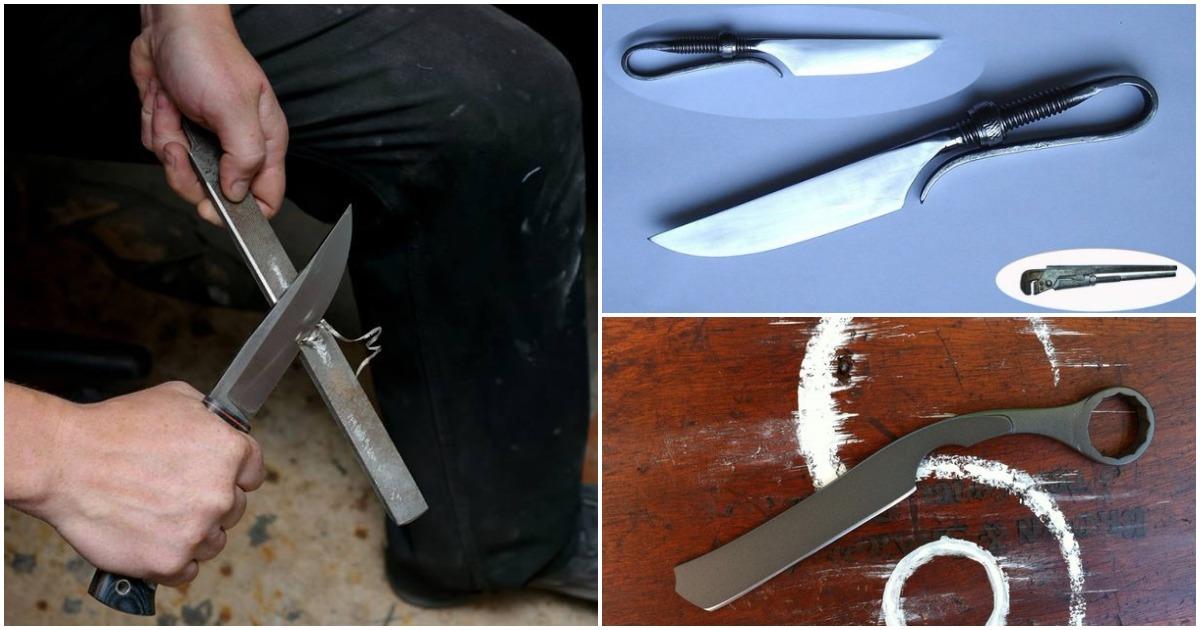 Оригинальные ножи из неожиданных вещей, сделанные своими руками