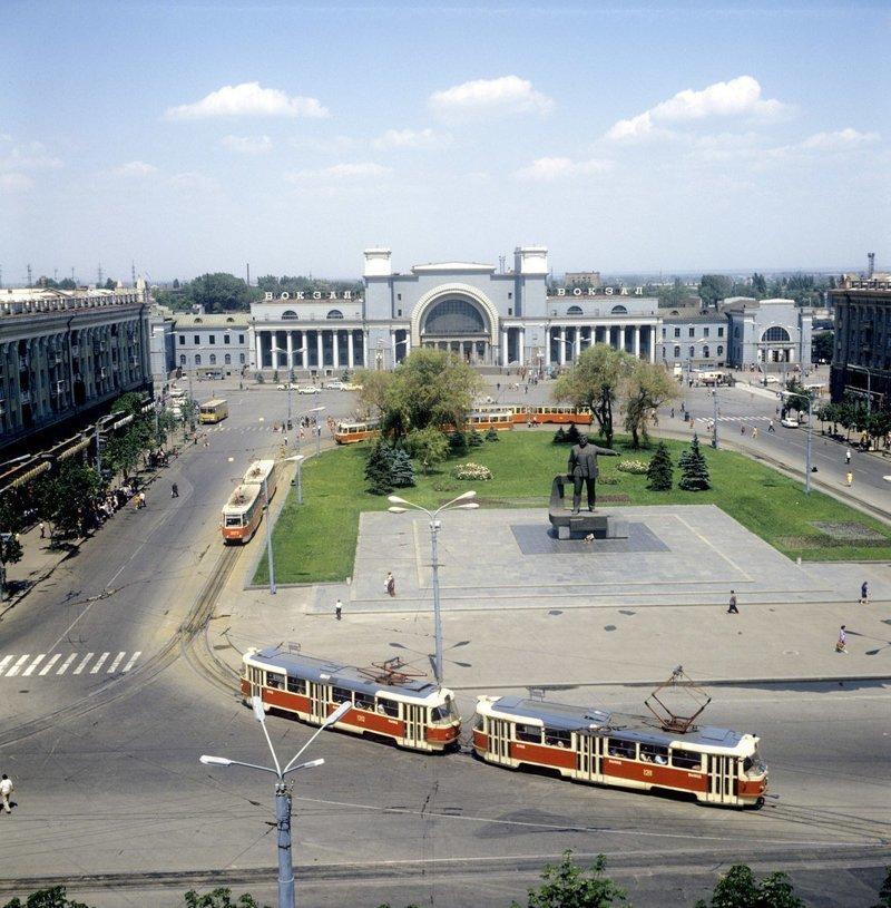 Площадь имени Петровского в Днепропетровске, 1983 год СССР, детство, ностальгия, подборка