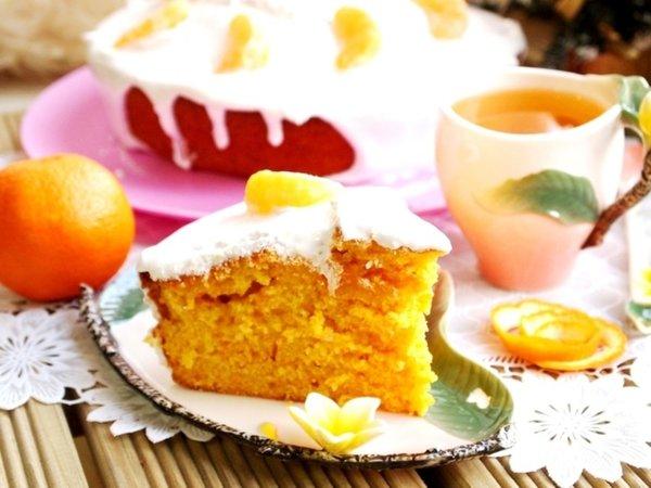 Приготовила Мандариновый пирог по этому волшебному рецепту. Теперь муж ходит по пятам и просит добавки!