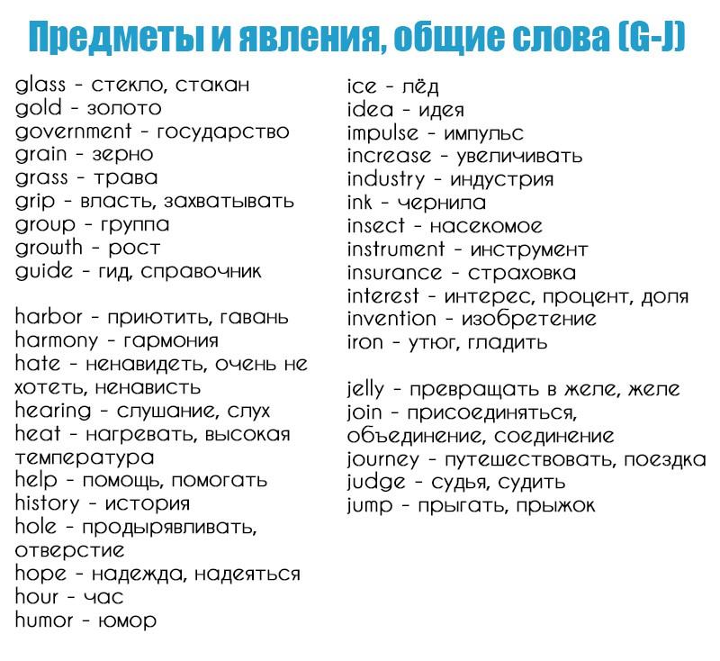 базовые глаголы английского языка