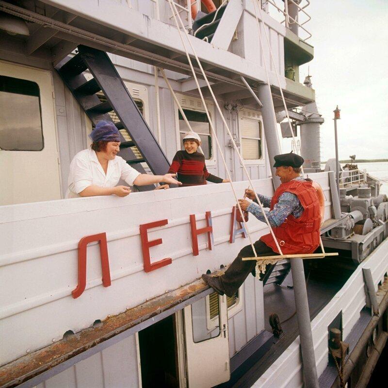 1970-е. На реке Лене 70-е, СССР, сибирь, фото