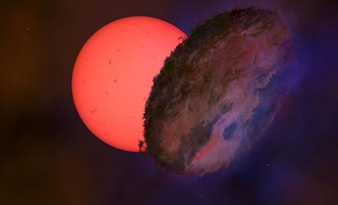 В центре нашей галактики заметили необычный мигающий объект, который закрывает другие звезды