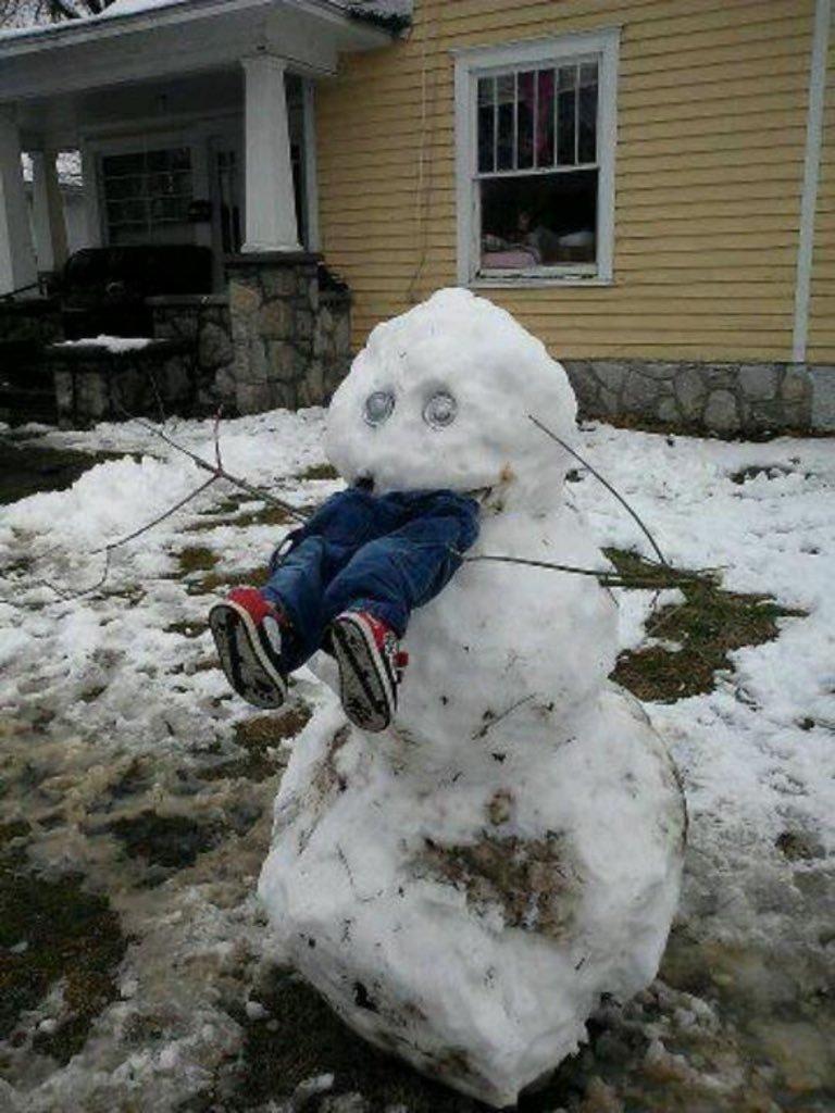 Снежные приколы картинки