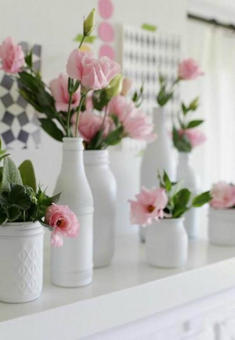 Искусственные цветы в интерьере.