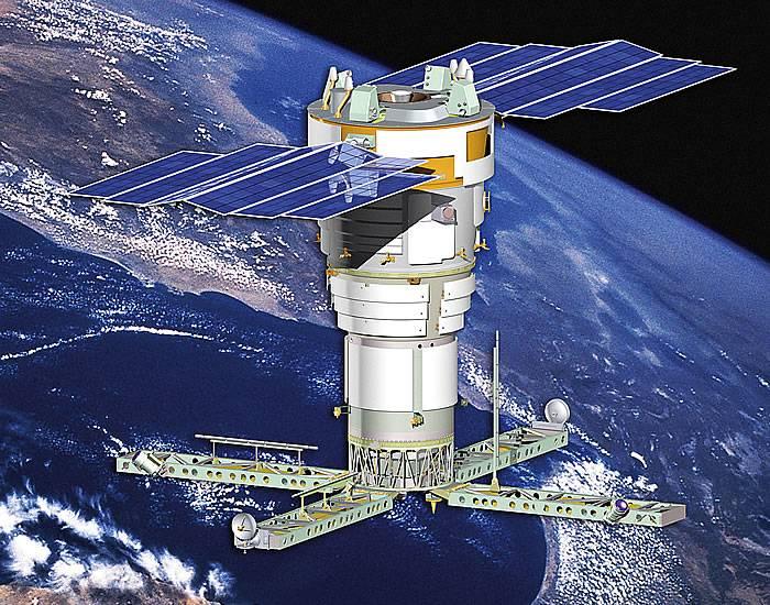 МКРЦ «Лиана» в процессе развертывания космос