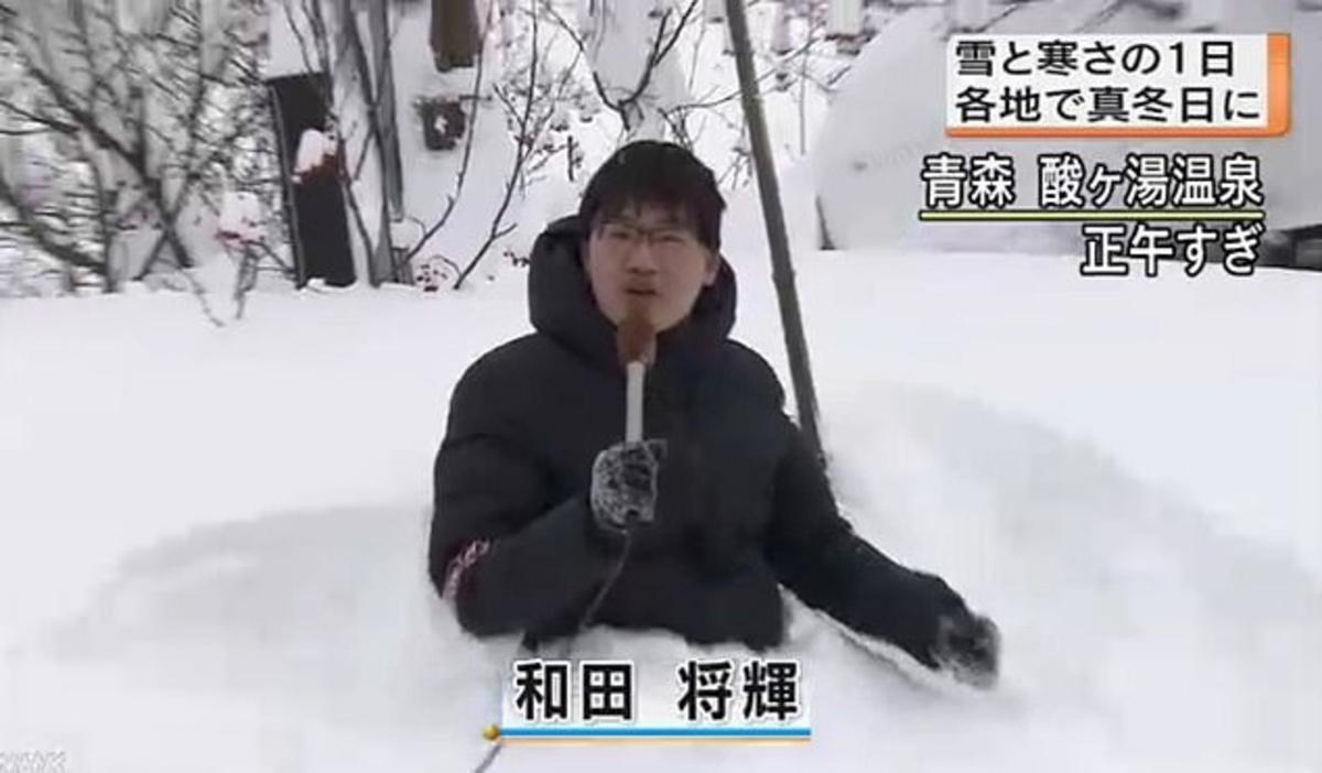 Японского журналиста высмеяли за «снежную» сенсацию