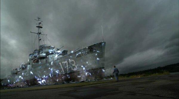 Как утверждает моряк Эдвард Даджион, служивший на корабле «Энгстрем», судно обтягивали толстой медной катушкой и при помощи переменного магнитного поля делали его «невидимым». Изображение взято с сайта «http://ufo-news.ru»