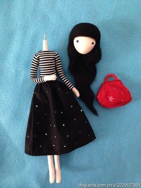 Создаём куклу на проволочном каркасе игрушки,своими руками,сделай сам