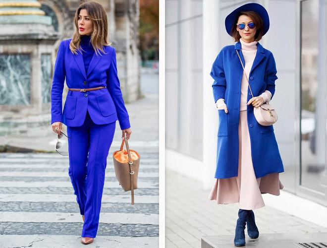 Кобальтовый оттенок синего цвета в одежде фото