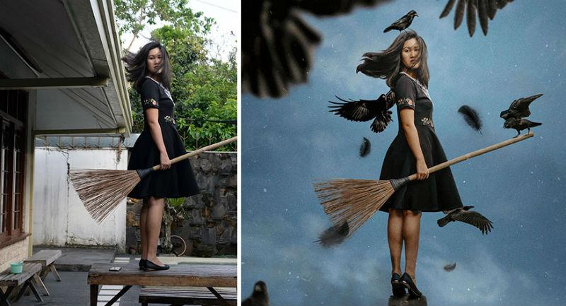 Художница из фотографий своего заднего двора создает сказочные миры, и это волшебно