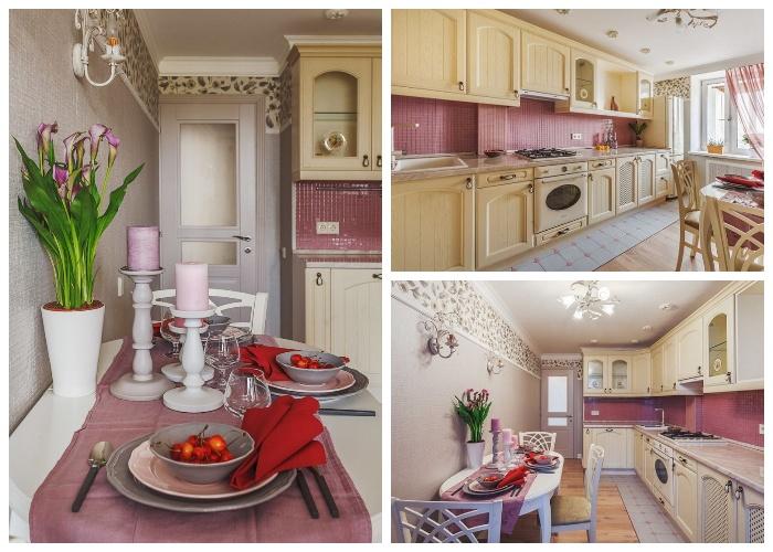 Обновленный интерьер кухни, выполненный в стиле прованс.