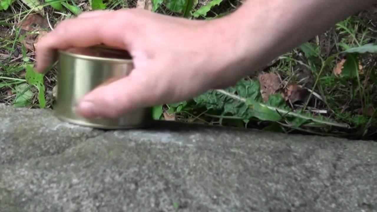 Как открыть консервы без ножа?