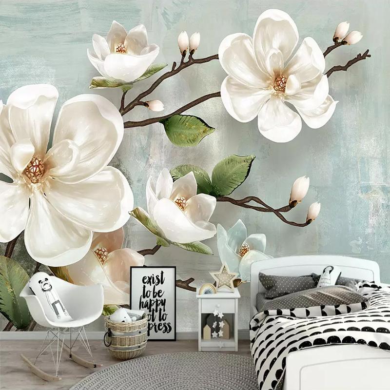 Цветы в интерьере: 22 идеи для дизайна с фотообоями