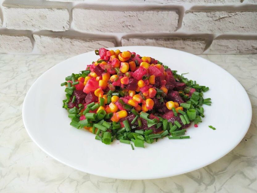 Вместо привычного винегрета рецепт постного вкусного салата из свеклы! постные блюда,салаты