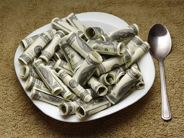Доллар на тарелочке
