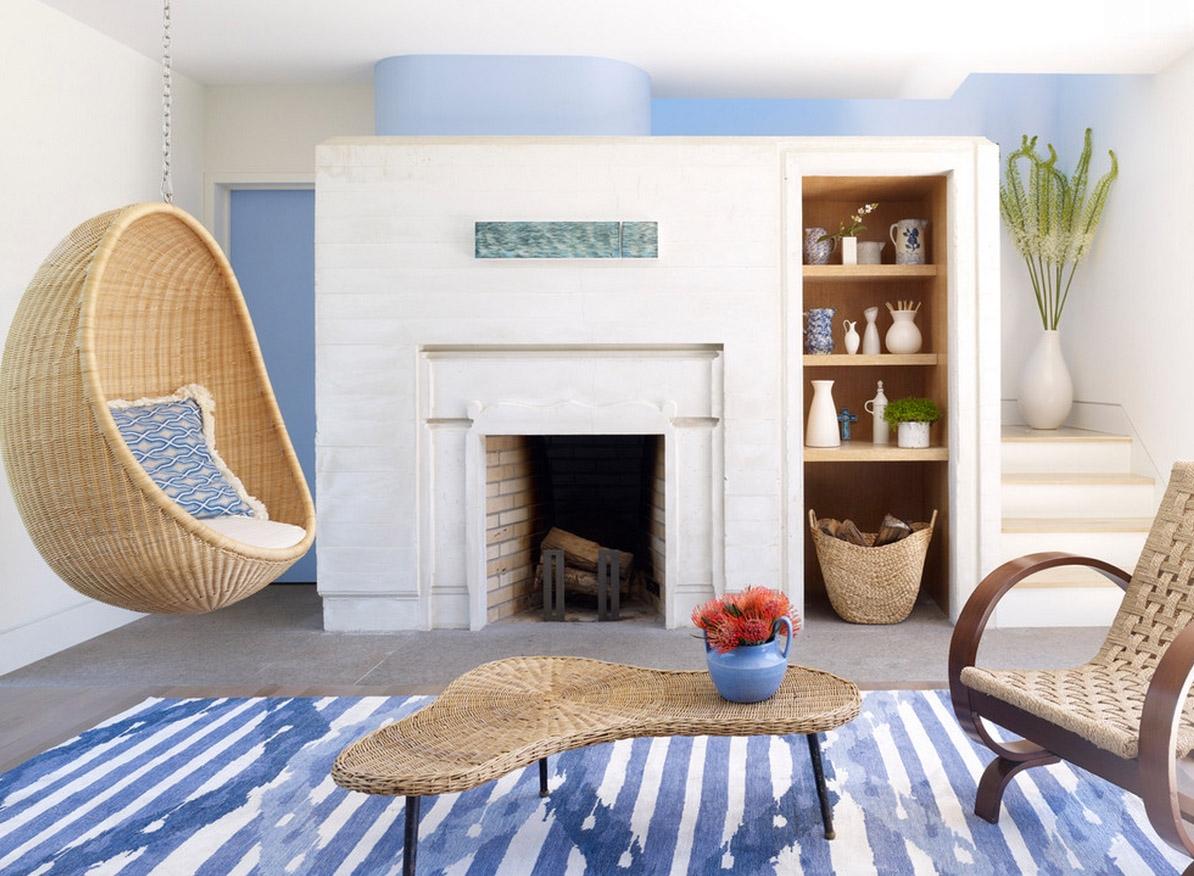 Как использовать подвесное кресло в интерьере: необычные идеи и интересные варианты