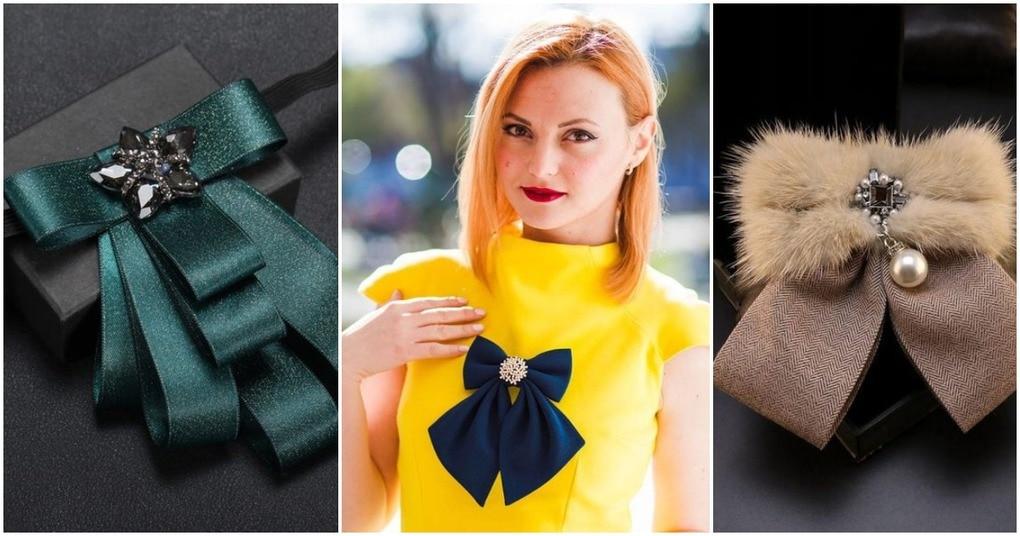 Женские галстуки-банты: рукотворная красота, которая украсит вашу одежду