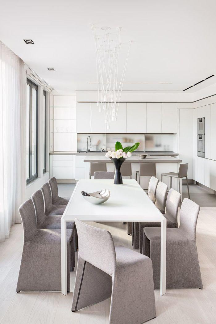 Дорогой минимализм: 7 приемов элегантности для столовой интерьер и дизайн