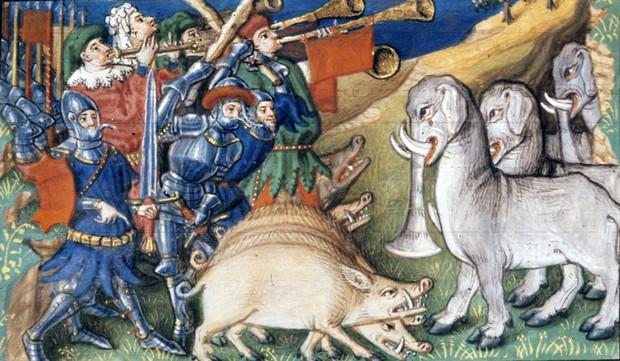 Свиньи против слонов :  самые странные битвы в истории войн история,оружие