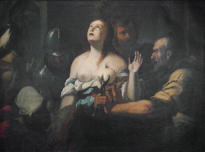 «Мученичество св. Агаты». Неизвестный художник.