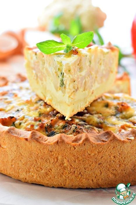Нежный овощной пирог с цветной капустой и мятой