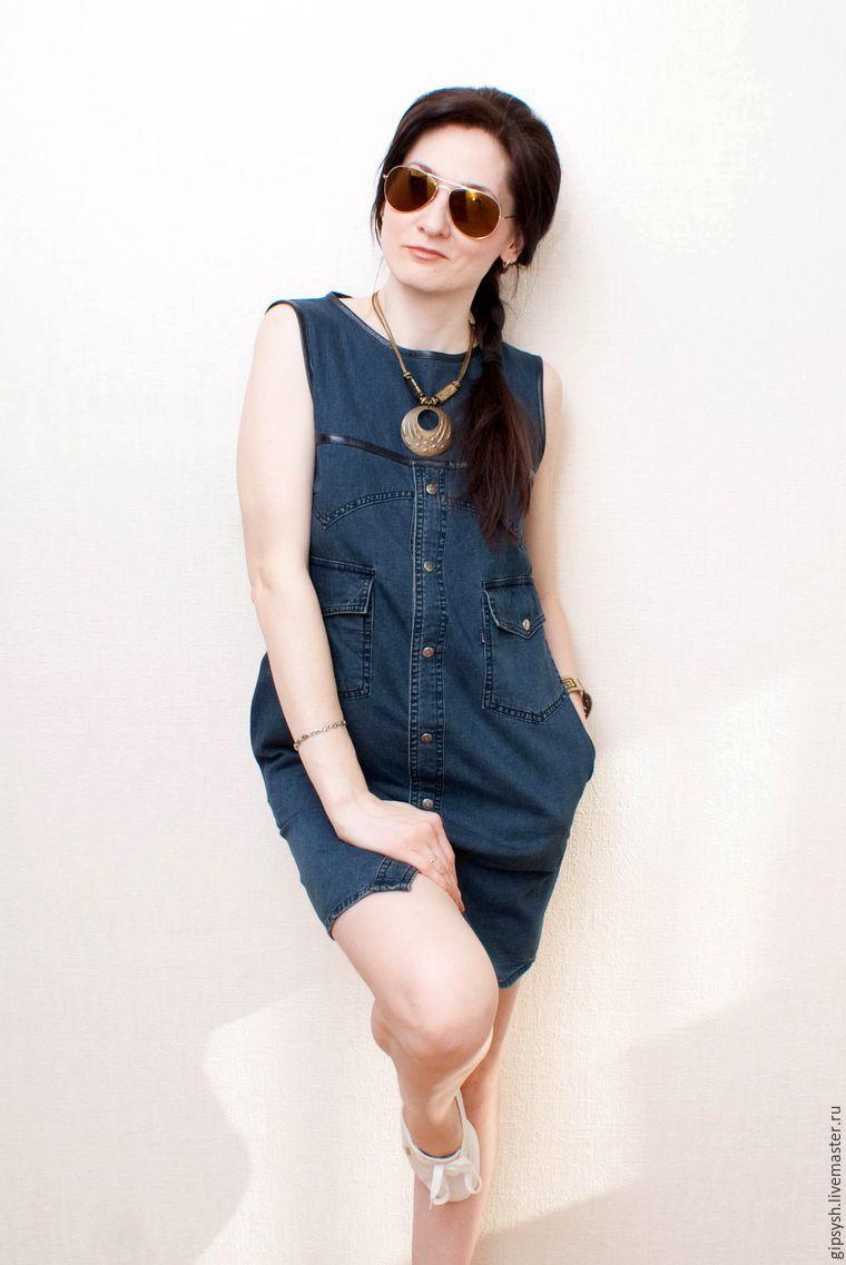 Как сшить стильное платье из джинсовой рубашки