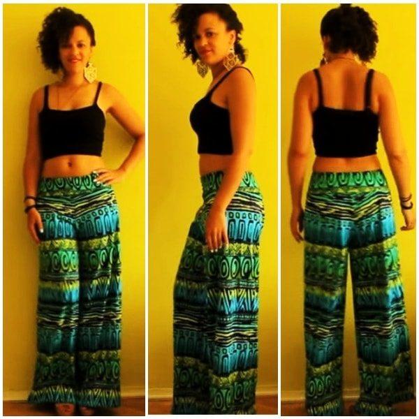 Стильная юбка-брюки без навыков кроя Брюки (жен,) летние,Одежда,своими руками,сделай сам