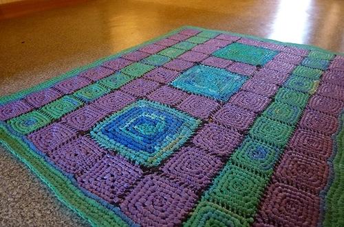 Вязание ковриков из пакетов - как приготовить пряжу