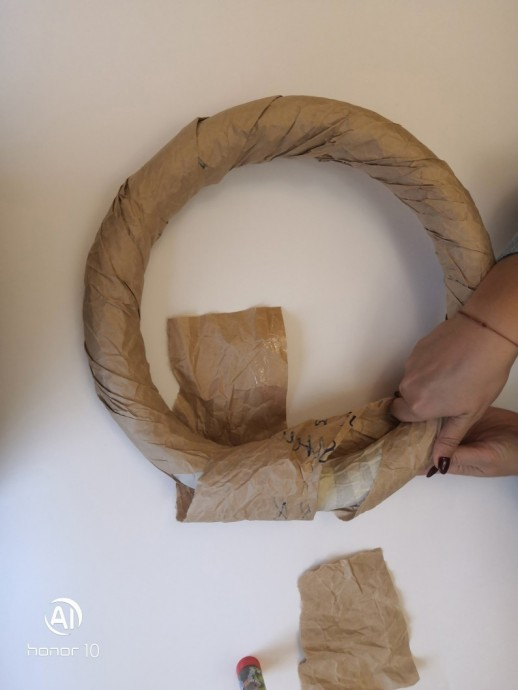 Мастер-класс по изготовлению декоративного осеннего венка декор,мастер-класс
