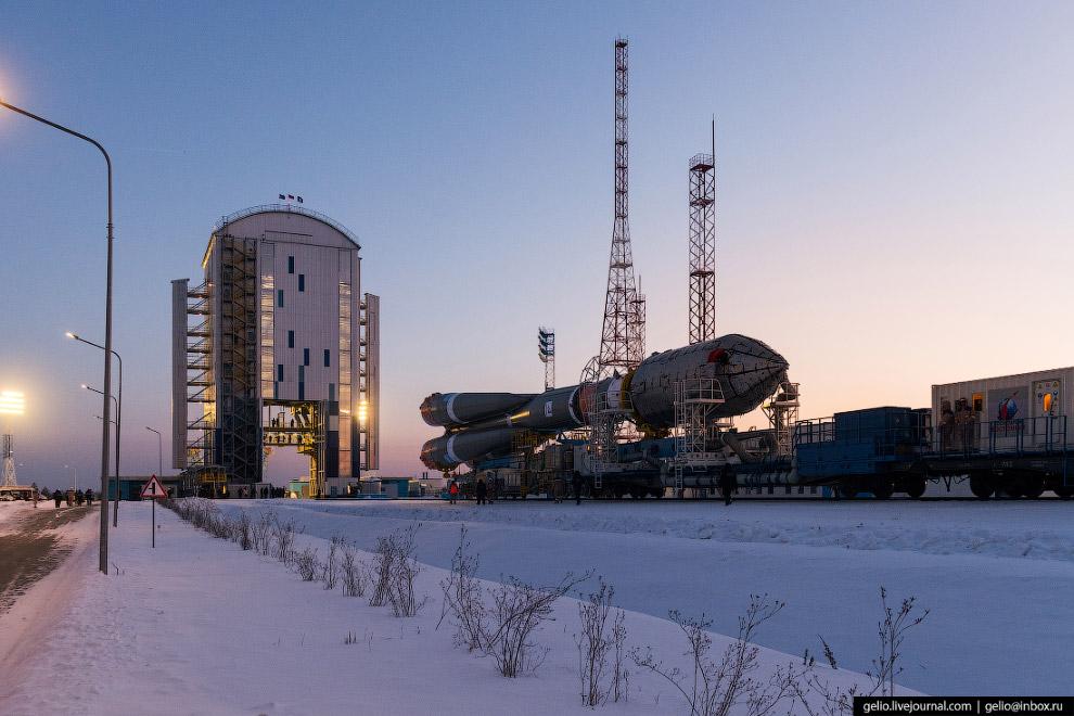 Старт ракеты «Союз-2.1а»