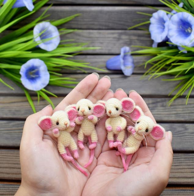Амигуруми - Мышки-малышки