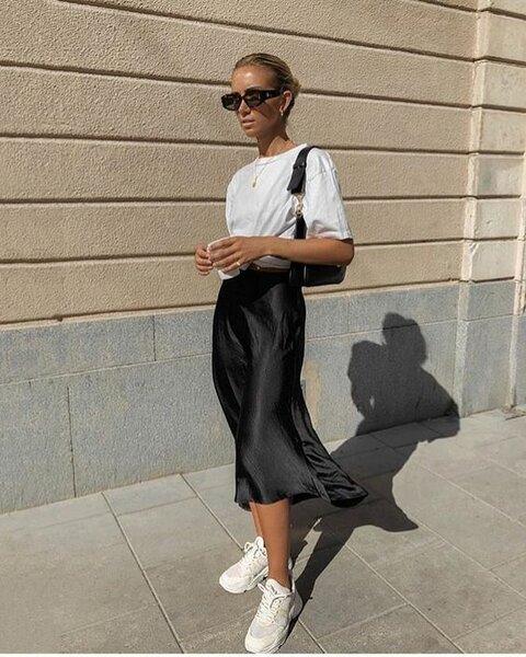 Образы с шелковой юбкой